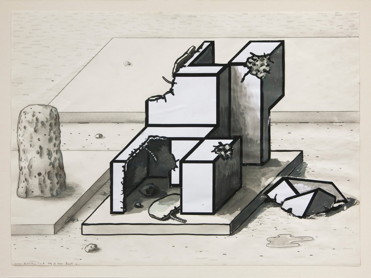 Paul Noble | Details from Nobson | c. 2000 | Collage and Ink on Paper | 23 x 33 cm