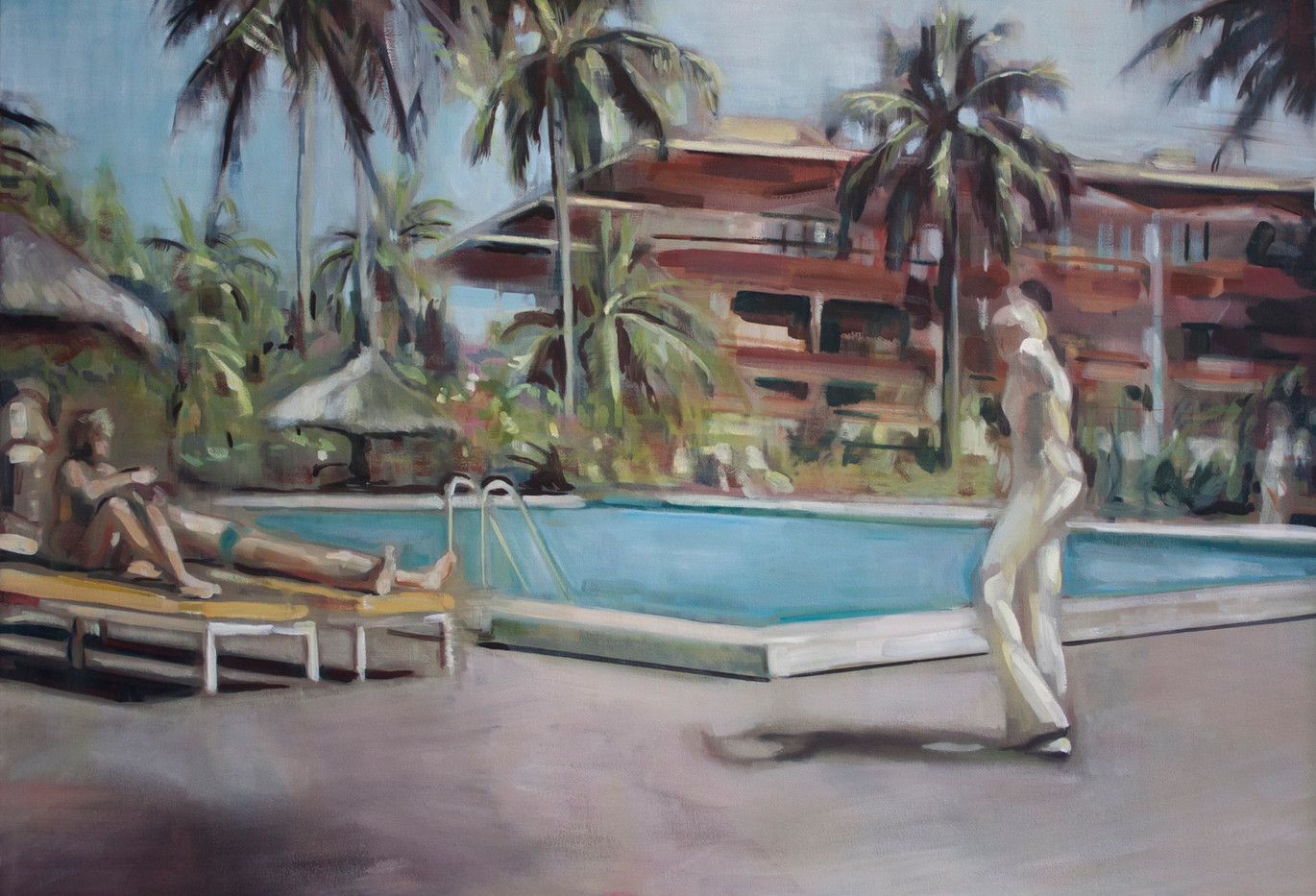 Kate Gottgens | Everything you want | 2014 | Oil on Canvas | 48 x 120 cm