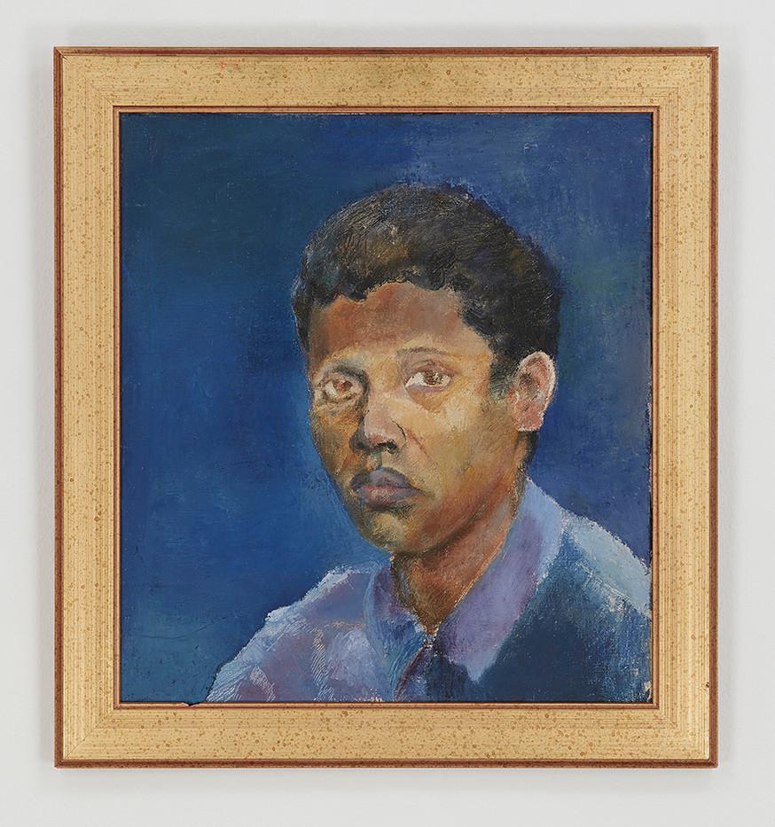 Albert Adams | Self-Portrait | c. 1950 | Oil on Canvas | 49.5 x 44.5 cm