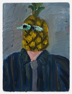 Georgina Gratrix | Pineapple | 2014 | Oil on Mounted Board | 40 x 30 cm