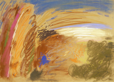 Kevin Atkinson | Untitled | c. 1985 | Pastel on Paper | 50 x 70 cm