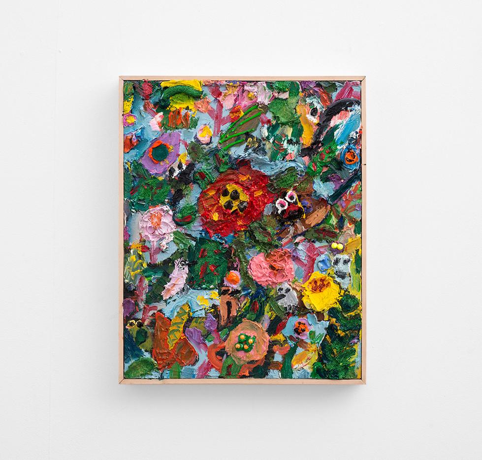 Georgina Gratrix | Bird Watching | 2017 | Oil on Canvas | 52 x 42 cm