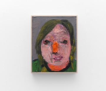 Georgina Gratrix | Orange Nose | 2017 | Oil on Canvas | 70 x 55 cm