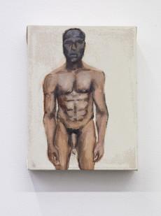 Themba Shibase | Man | 2017 | Oil on Canvas | 20 x 15 cm