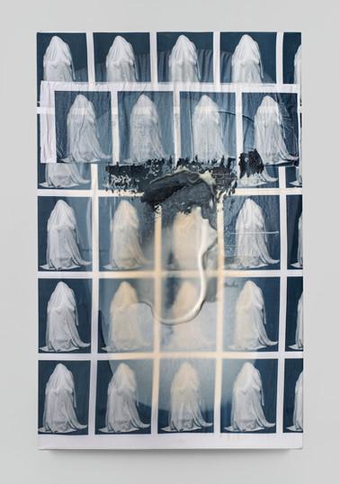Sepideh Mehraban | Endgame | 2021 | Mixed Media on Canvas | 120 x 77 cm