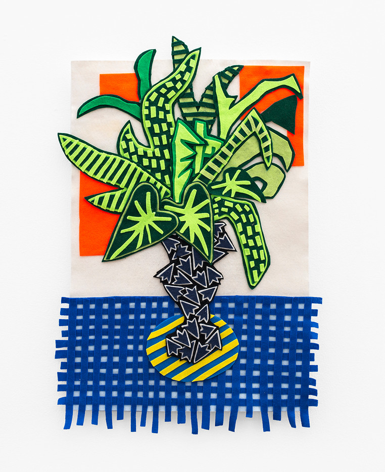 Jody Paulsen | Houseplant | 2020 | Felt Collage | 83 x 53.5 cm
