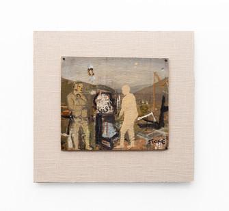 Simon Stone | Farm Yard Blues | 2020 | Oil on Cardboard | 25 x 28.5 cm