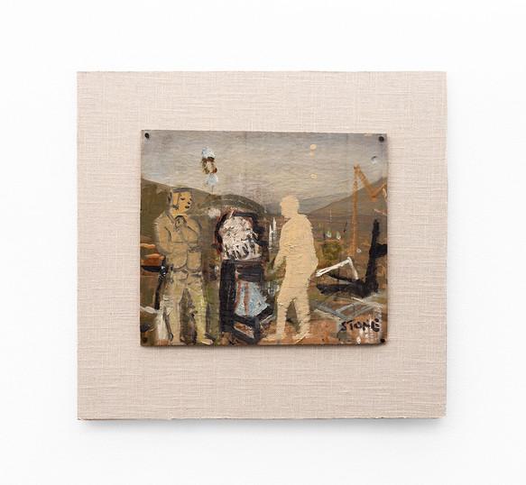 Simon Stone   Farm Yard Blues   2020   Oil on Cardboard   25 x 28.5 cm