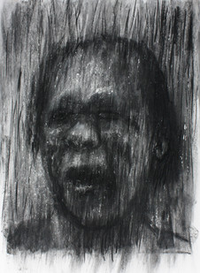 Johann Louw   Portret   2013   Charcoal on Paper   100 x 70 cm