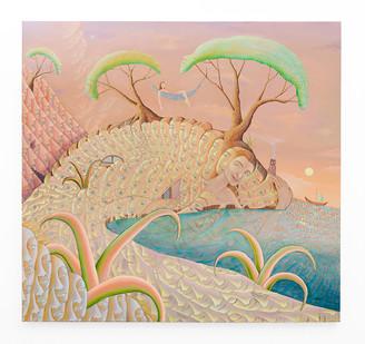Marlene Steyn | a sigh limb's asylum | 2020 | Oil on Canvas | 150 x 150 cm