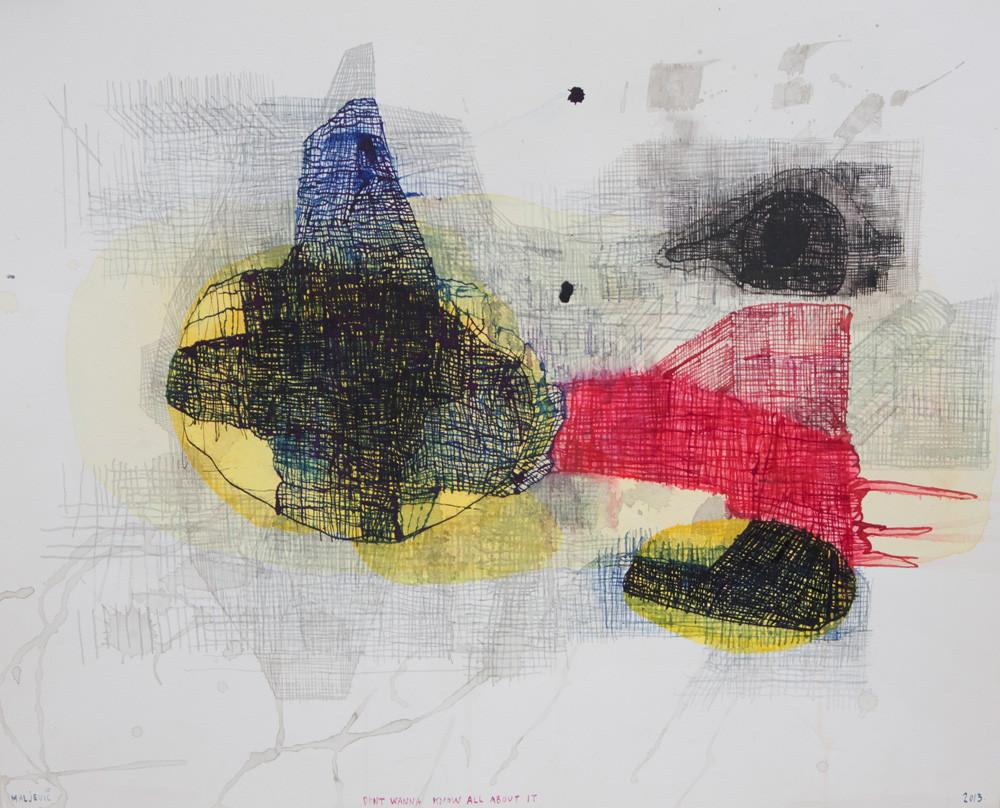 Maja Maljevic | Don't Wanna Know All About It | 2013 | Mixed Media on Paper | 35 x 43 cm