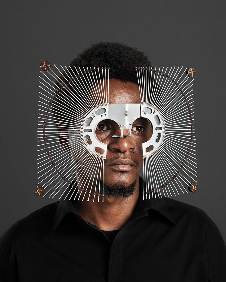Cyrus Kabiru   Kwa Kubadilishana Utamaduni, Macho Nne: At The Dot   2017   Pigment Ink on HP Satin Photographic Paper   150 x 120 cm   Edition of 5 + 2 AP
