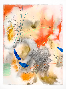 Mongezi Ncaphayi | Tomorrow never knows | 2019 | Indian Ink and Watercolour on Cotton Paper | 75.5 x 56 cm