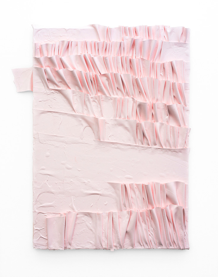 Gabrielle Kruger | Pleated Painting | 2019 | Acrylic on Board | 60 x 46 cm