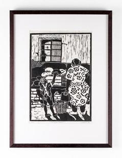 Lionel Davis | Chosen Fruit | 1986 | Linocut on Paper | 31 x 21.5 cm