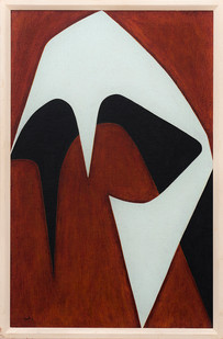 Albert Newall | Helmet Head | 1956 | Oil on Board | 70 x 45 cm