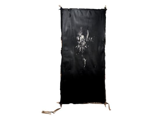 Alexandra Karakashian | Descend I | 2018 | Oil and Salt on Sized Paper | 281 x 142 cm