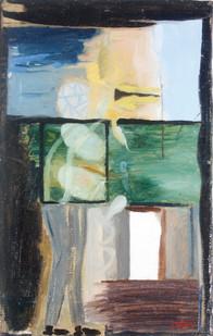 Simon Stone | A Meal a Day | n.d. | Oil on Cardboard | 48 x 31 cm