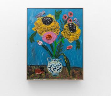 Georgina Gratrix | New Flowers 2 | 2017 | Oil on Canvas | 90 x 70 cm