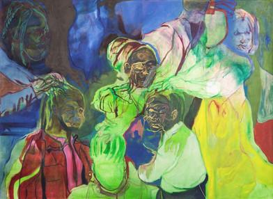 Chemu Ng'ok | Transfer | 2017 | Oil on Canvas | 110 x 149.5 cm