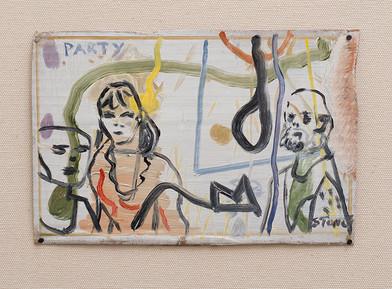 Simon Stone   Party   2016   Oil on Cardboard   16 x 24 cm