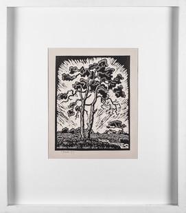 Gregoire Boonzaier | Tree | 1979 | Linocut | 36 x 28 cm