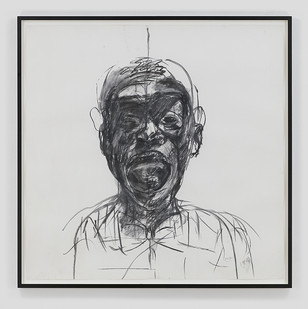 Albert Adams | Head | 1999 | Charcoal on Paper | 148 x 149 cm