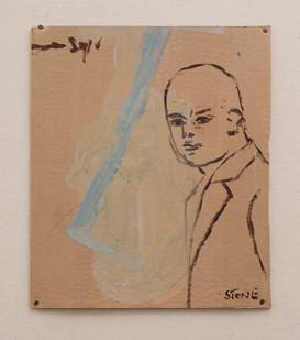 Simon Stone   Square   2016   Oil on Cardboard   33.4 x 28.5 cm
