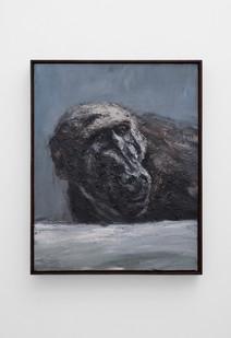 Johann Louw | Bobbejaan Portret Terugskouend | 2017 | Oil on Panel | 76 x 61 cm