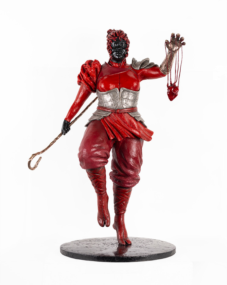 Mary Sibande | Good is bad and bad is good | 2020 | Painted Bronze | 68 x 34 x 34 cm | Edition of 6 + 2 AP