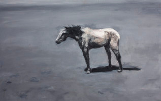 Johann Louw | Horse without a Tail | 2012 | Oil on Board | 122.5 x 78 cm