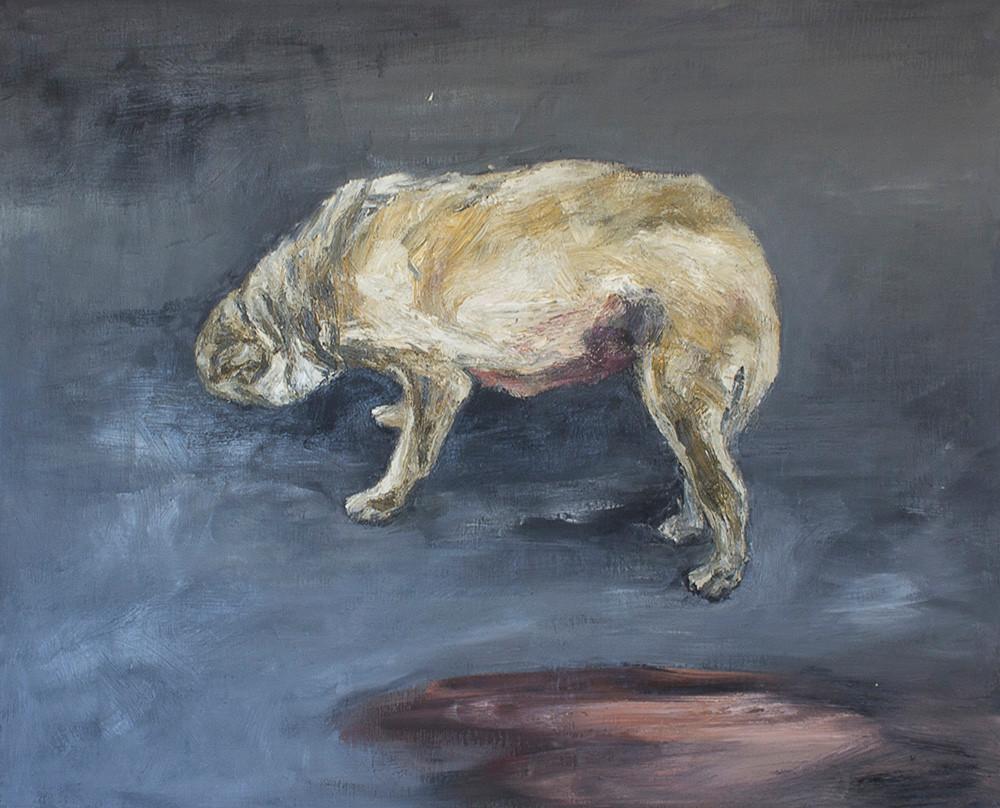 Johann Louw | Harige Hond | 2015 | Oil on Canvas | 139.5 x 111.5 cm