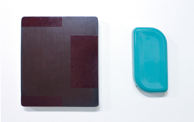 Helen A. Pritchard   Untitled - Diptych Carrier 36, Ex 6   2013   Oil and Pigment on Board, Plaster and Enamel   Sizes Variable