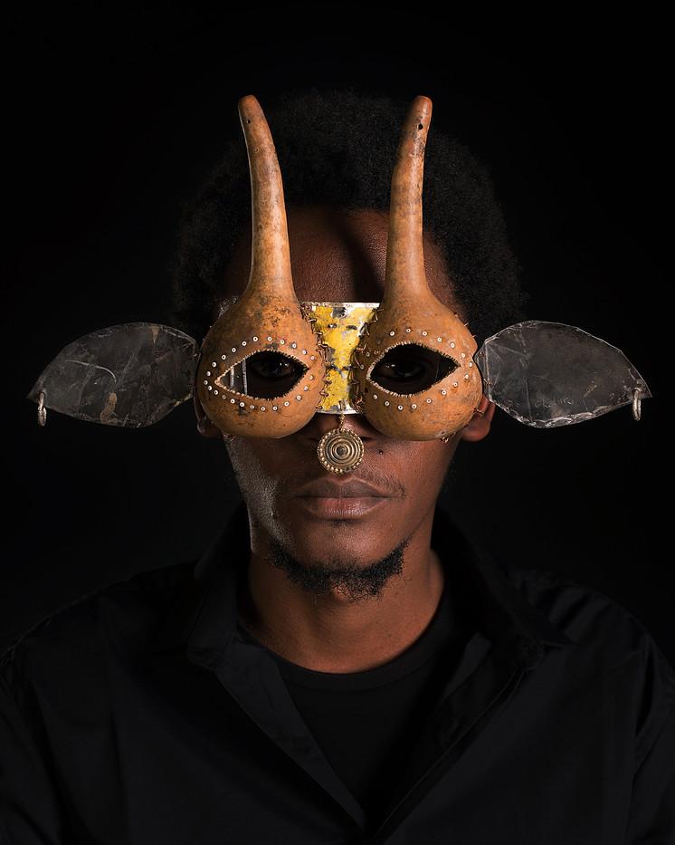 Cyrus Kabiru | Macho Nne: Nubian Antelope | 2015 | Ink on HP Premium Satin Photographic Paper | 150 x 120 cm | Edition of 5 + 2 AP