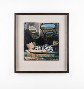 Simon Stone | Floral Top | 2020 | Oil on Cardboard | 32 x 29.5 cm