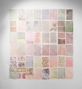 Olivie Keck | Malarkey Dowry | 2011-2016 | Coloured Embroidery Thread on Paper | 29.7 x 21 cm Each