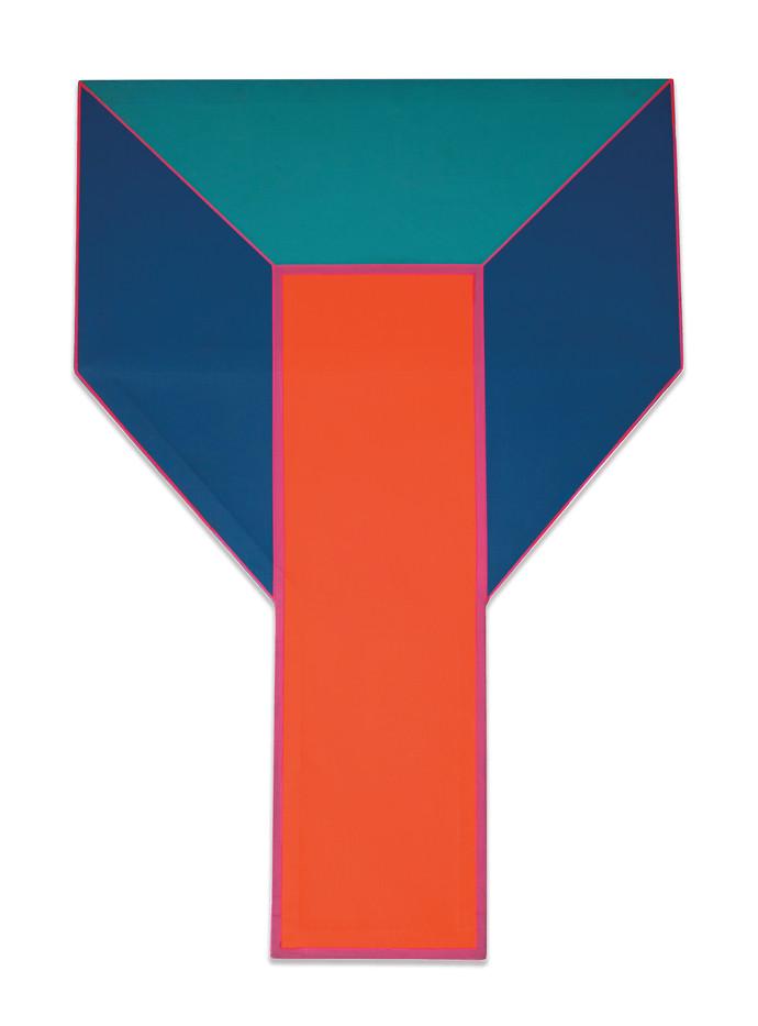 Trevor Coleman | Interlock III | 1970 | Acrylic and Mixed Media on Canvas | 131.5 x 91.5 cm