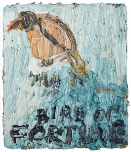Georgina Gratrix | Bird of Fortune | 2013 | Oil on Board | 26.5 x 23 cm