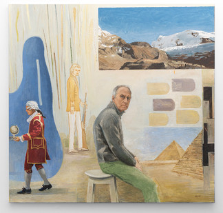 Simon Stone   The Coachman   2016   Oil on Canvas   195 x 195 cm