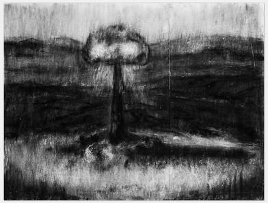 Johann Louw | Ontploffing | 2014 | Charcoal on Paper | 123 x 163 cm