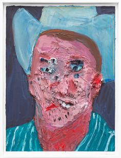 Georgina Gratrix | Cowboy / Dad | 2019 | Oil on Canvas | 65 x 49.5 x 6 cm