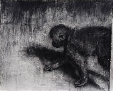 Johann Louw | Kruipende Aap | 2017 | Charcoal on Hahnemühle | 100 x 126 cm