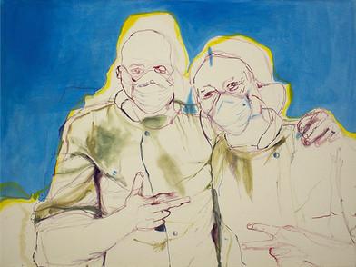 Chemu Ng'ok | Untitled | 2014 | Oil on Canvas | 77 x 102 cm