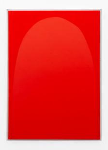 Pierre Vermeulen | Vermillion monochrome nr 2 | 2019 | Shellac and Acrylic on Belgian Linen | 100 x 73 x 4.5 cm