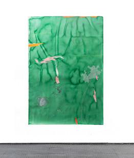 Mongezi Ncaphayi | Transit | 2017 | Indian Ink and Mixed Media on Paper | 199 x 140 cm