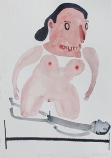 Karlien de Villiers | Fat Over Lean | 2013 | Watercolour on Paper | 51 x 36 cm