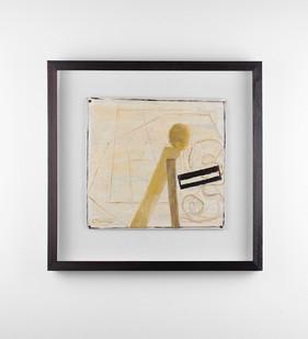 Simon Stone | Shuffle | 2018 | Oil on Cardboard | 28 x 29 cm