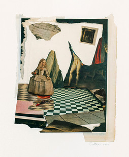 Kate Gottgens   A tale without handmaids   2020   Collage on Paper   77 x 57 cm