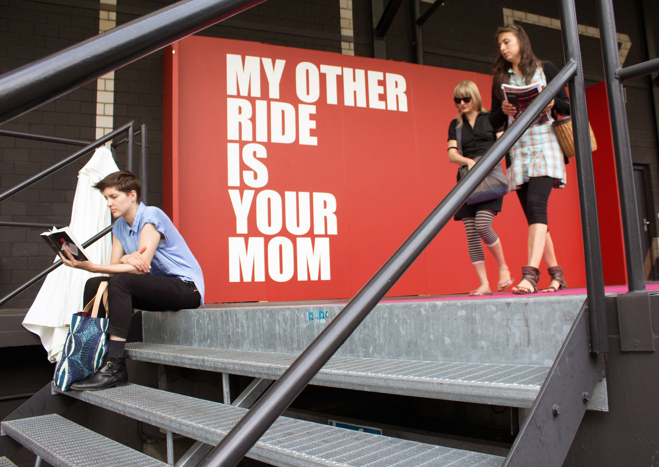 Ed Young   My Other Ride Is Your Mom   2013   Mural   Dimensions Variable