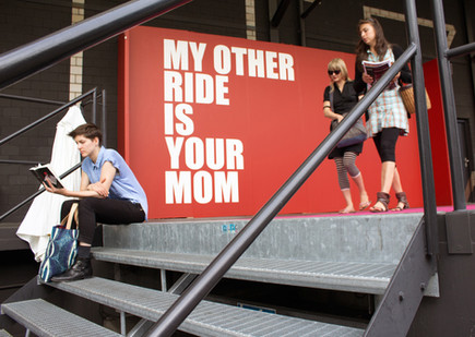 Ed Young | My Other Ride Is Your Mom | 2013 | Mural | Dimensions Variable
